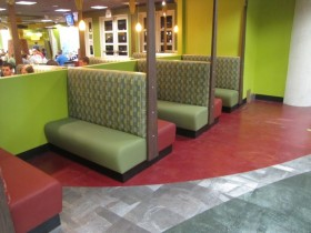 restaurant seating reupholstery | J&J Seat Cover